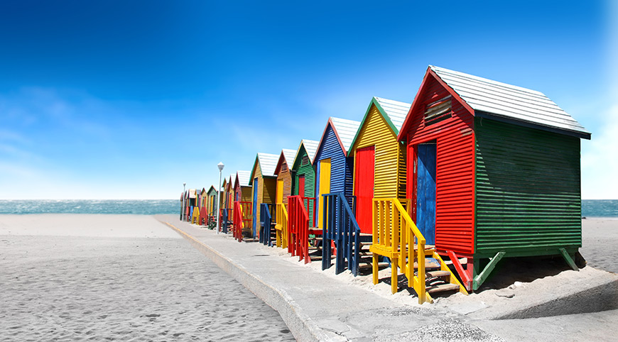 Muizenberg Beach Huts (Cape Point Peninsula Tour)